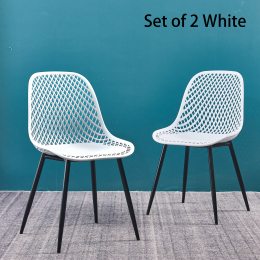 dining chair Plastic chair for dining room(set of 2 White color)