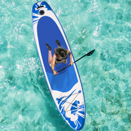 Inflatable Stand Up Paddle Board 10' x 30'' x 6'' Ultra-Light SUP, Non-Slip Deck, Premium SUP Accessories, Bottom Fin for Paddling, Leash, Hand Pump and Backpack, Youth & Adult Standing Boat