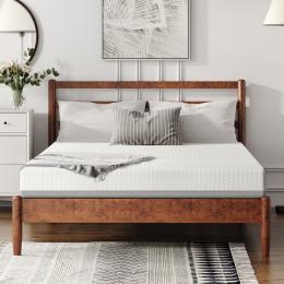 6 Inches Gel & Charcoal Infused Memory Foam Mattress - Medium Comfort(Queen)