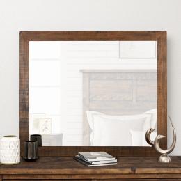 Reclaimed Pine Wood Mirror