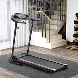 KRD-JK1609A Folding Electric Treadmill Running Machine for Home Black with 3 Manual inclines