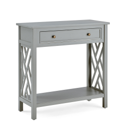 """Coventry 32"""" Wood Entryway/Console/Sofa Table with Drawer and Shelf, Gray"""